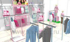 Дизайн интерьера детского магазина ACOO LIKE коллекция РАДУГА Дизайн 07