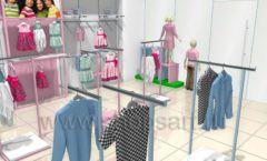 Дизайн интерьера детского магазина ACOO LIKE коллекция РАДУГА Дизайн 08
