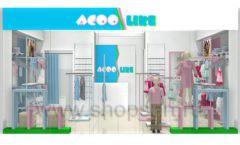 Дизайн интерьера детского магазина ACOO LIKE коллекция РАДУГА Дизайн 13