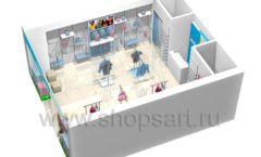Дизайн интерьера детского магазина ACOO LIKE коллекция РАДУГА Дизайн 17