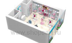 Дизайн интерьера детского магазина ACOO LIKE коллекция РАДУГА Дизайн 18