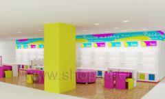 Дизайн интерьера детского магазина Весело шагать Москва коллекция КАРАМЕЛЬ Дизайн 3