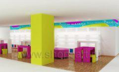 Дизайн интерьера детского магазина Весело шагать Москва коллекция КАРАМЕЛЬ Дизайн 4