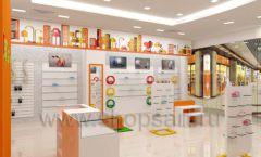Дизайн интерьера детского магазина Пешеходик МТК ЕвроПарк коллекция КАРАМЕЛЬ Дизайн 01