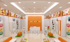 Дизайн интерьера детского магазина Пешеходик МТК ЕвроПарк коллекция КАРАМЕЛЬ Дизайн 02