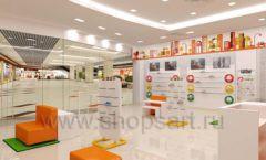 Дизайн интерьера детского магазина Пешеходик МТК ЕвроПарк коллекция КАРАМЕЛЬ Дизайн 03
