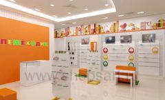 Дизайн интерьера детского магазина Пешеходик МТК ЕвроПарк коллекция КАРАМЕЛЬ Дизайн 04