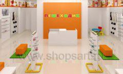 Дизайн интерьера детского магазина Пешеходик МТК ЕвроПарк коллекция КАРАМЕЛЬ Дизайн 05