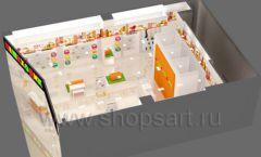 Дизайн интерьера детского магазина Пешеходик МТК ЕвроПарк коллекция КАРАМЕЛЬ Дизайн 09