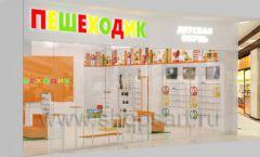 Дизайн интерьера детского магазина Пешеходик МТК ЕвроПарк коллекция КАРАМЕЛЬ Дизайн 10