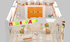 Дизайн интерьера детского магазина Пешеходик МТК ЕвроПарк коллекция КАРАМЕЛЬ Дизайн 11