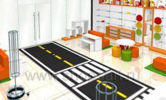 Дизайн интерьера детского магазина Пешеходик ТРЦ Рига Молл коллекция КАРАМЕЛЬ Дизайн 01