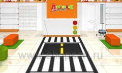 Дизайн интерьера детского магазина Пешеходик ТРЦ Рига Молл коллекция КАРАМЕЛЬ Дизайн 02