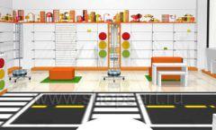 Дизайн интерьера детского магазина Пешеходик ТРЦ Рига Молл коллекция КАРАМЕЛЬ Дизайн 05