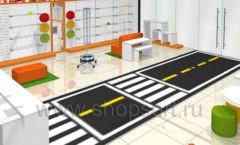 Дизайн интерьера детского магазина Пешеходик ТРЦ Рига Молл коллекция КАРАМЕЛЬ Дизайн 06