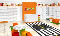 Дизайн интерьера детского магазина Пешеходик ТРЦ Рига Молл коллекция КАРАМЕЛЬ Дизайн 07