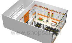 Дизайн интерьера детского магазина Пешеходик ТРЦ Рига Молл коллекция КАРАМЕЛЬ Дизайн 10