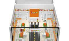 Дизайн интерьера детского магазина Пешеходик ТРЦ Рига Молл коллекция КАРАМЕЛЬ Дизайн 11