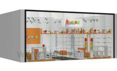 Дизайн интерьера детского магазина Пешеходик ТРЦ Рига Молл коллекция КАРАМЕЛЬ Дизайн 13
