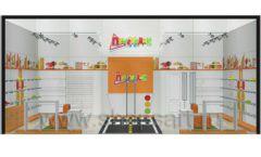 Дизайн интерьера детского магазина Пешеходик ТРЦ Рига Молл коллекция КАРАМЕЛЬ Дизайн 14