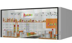 Дизайн интерьера детского магазина Пешеходик ТРЦ Рига Молл коллекция КАРАМЕЛЬ Дизайн 15