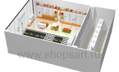 Дизайн интерьера детского магазина Пешеходик ТРЦ Рига Молл коллекция КАРАМЕЛЬ Дизайн 16