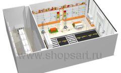 Дизайн интерьера детского магазина Пешеходик ТРЦ Рига Молл коллекция КАРАМЕЛЬ Дизайн 18