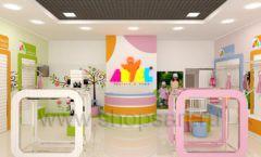 Дизайн интерьера детского магазина Artel коллекция АКВАРЕЛИ Дизайн 02