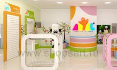 Дизайн интерьера детского магазина Artel коллекция АКВАРЕЛИ Дизайн 04