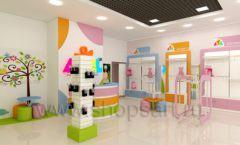 Дизайн интерьера детского магазина Artel коллекция АКВАРЕЛИ Дизайн 07