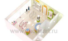 Дизайн интерьера детского магазина Artel коллекция АКВАРЕЛИ Дизайн 13