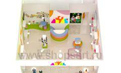 Дизайн интерьера детского магазина Artel коллекция АКВАРЕЛИ Дизайн 14