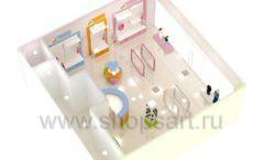 Дизайн интерьера детского магазина Artel коллекция АКВАРЕЛИ Дизайн 15