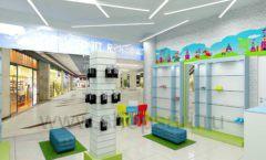 Дизайн интерьера детского магазина обуви Волшебная прогулка коллекция АКВАРЕЛИ Дизайн 05