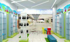 Дизайн интерьера детского магазина обуви Волшебная прогулка коллекция АКВАРЕЛИ Дизайн 08