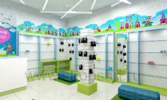 Дизайн интерьера детского магазина обуви Волшебная прогулка коллекция АКВАРЕЛИ Дизайн 10