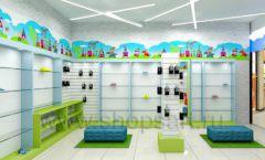 Дизайн интерьера детского магазина обуви Волшебная прогулка коллекция АКВАРЕЛИ Дизайн 11