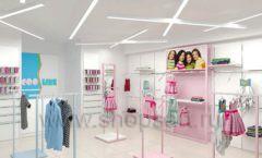 Дизайн интерьера детского магазина ACOO LIKE коллекция РАДУГА торговой мебели Дизайн 01