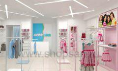 Дизайн интерьера детского магазина ACOO LIKE коллекция РАДУГА торговой мебели Дизайн 02