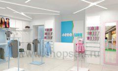 Дизайн интерьера детского магазина ACOO LIKE коллекция РАДУГА торговой мебели Дизайн 03