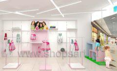 Дизайн интерьера детского магазина ACOO LIKE коллекция РАДУГА торговой мебели Дизайн 08