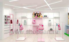 Дизайн интерьера детского магазина ACOO LIKE коллекция РАДУГА торговой мебели Дизайн 09