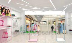 Дизайн интерьера детского магазина ACOO LIKE коллекция РАДУГА торговой мебели Дизайн 10