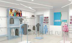 Дизайн интерьера детского магазина ACOO LIKE коллекция РАДУГА торговой мебели Дизайн 11