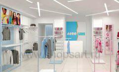 Дизайн интерьера детского магазина ACOO LIKE коллекция РАДУГА торговой мебели Дизайн 12