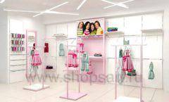 Дизайн интерьера детского магазина ACOO LIKE коллекция РАДУГА торговой мебели Дизайн 15