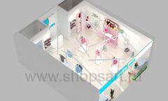 Дизайн интерьера детского магазина ACOO LIKE коллекция РАДУГА торговой мебели Дизайн 16