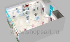 Дизайн интерьера детского магазина ACOO LIKE коллекция РАДУГА торговой мебели Дизайн 18