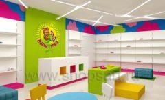Дизайн интерьера детского магазина Мишутка торговая мебель КАРАМЕЛЬ Дизайн 01