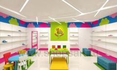 Дизайн интерьера детского магазина Мишутка торговая мебель КАРАМЕЛЬ Дизайн 02